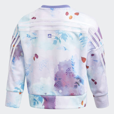 Sweat-shirt Disney Frozen Crew Violet Filles Fitness Et Training