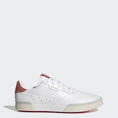 Men Golf White Adicross Retro Golf Shoes