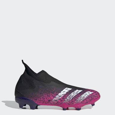 Botas de Futebol sem Atacadores Predator Freak.3 – Piso firme Preto Futebol