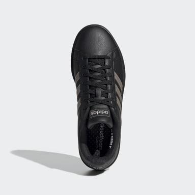 Women Sport Inspired Black Grand Court Shoes
