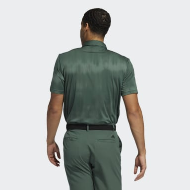 Men Golf Green Novelty Polo Shirt