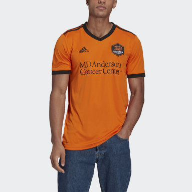 Men's Soccer Orange Houston Dynamo 21/22 Home Jersey
