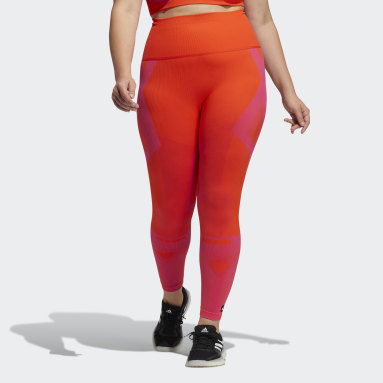 Dames Fitness En Training Oranje Formotion Sculpt Two-Tone Legging (Grote Maat)