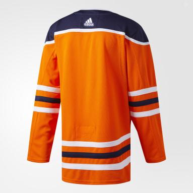 Maillot Oilers Domicile Authentique Pro Orange Hockey