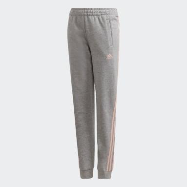 Pantalon 3-Stripes Tapered Leg Gris Filles Fitness Et Training