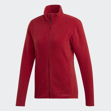 Women TERREX Burgundy Tivid Jacket
