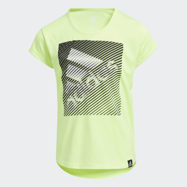 Children Training Yellow Scoop Neck Tee