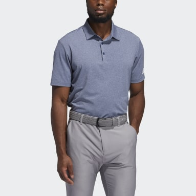 Men Golf Blue Ultimate365 Heather Polo Shirt