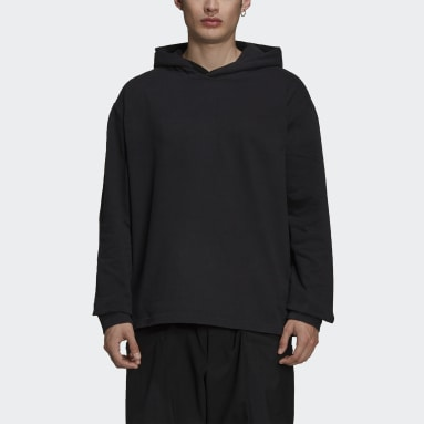 Men Y-3 Black Y-3 CH3 Raw Terry Graphic Logo Hoodie