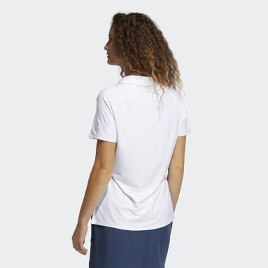 Women Golf White Go-To Primegreen Short Sleeve Polo Shirt