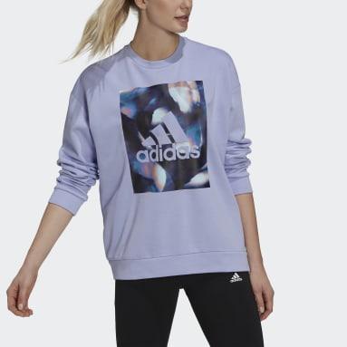 Women Sportswear Purple U4U Soft Knit Sweatshirt