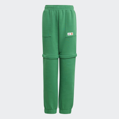 Pantaloni adidas x Classic LEGO® Two-In-One Slim Verde Bambini Fitness & Training