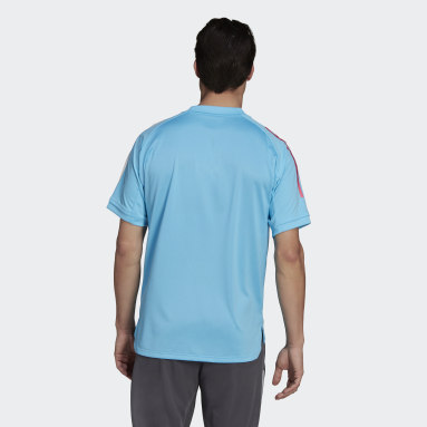 Heren Voetbal Turquoise Real Madrid Trainingsshirt
