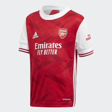 Kids 4-8 Years Football Burgundy Arsenal Home Mini Kit