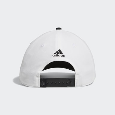 Men Golf White adidas Script Curved Snapback Hat