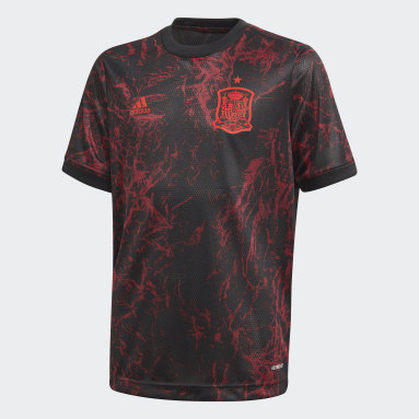 Camiseta calentamiento España Negro Niño Fútbol