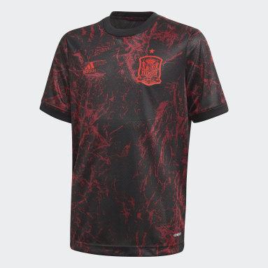 Kinder Fußball Spanien Pre-Match Shirt Schwarz