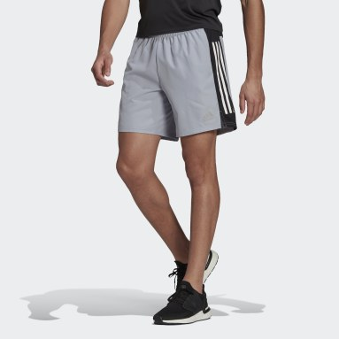 Heren Hardlopen Grijs Own The Run 3-Stripes Short