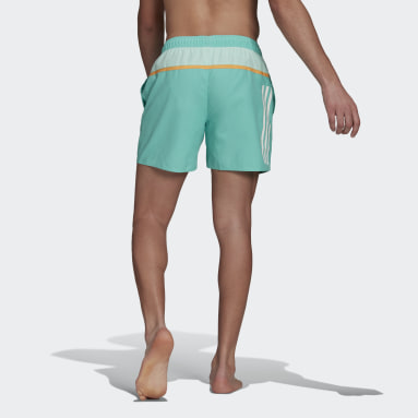 Short de bain Short-Length Colorblock 3-Stripes Vert Hommes Natation