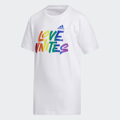 Youth Training White Pride Love Unites Tee