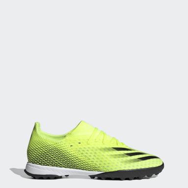 Men's Soccer Yellow X Ghosted.3 Turf Shoes