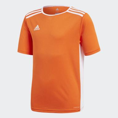 Camiseta Entrada Naranja Niño Gimnasio Y Entrenamiento