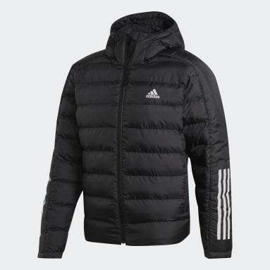 Men City Outdoor Black Itavic 3-Stripes 2.0 Winter Jacket