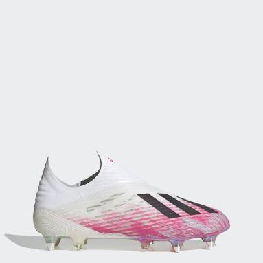 Zapatos de Fútbol X 19+ Terreno Suave Blanco Hombre Fútbol