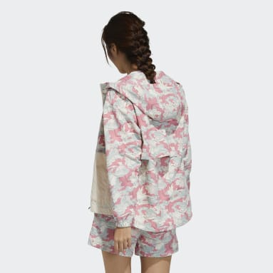 Women TERREX White Festival Allover Print Windbreaker