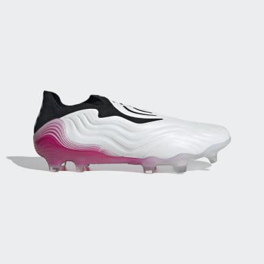Calzado de fútbol Copa Sense+ Terreno Firme Blanco Hombre Fútbol