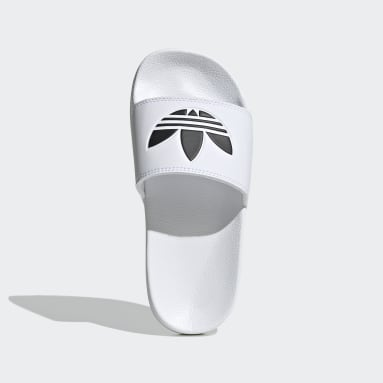 Kids Originals White Adilette Lite Slides
