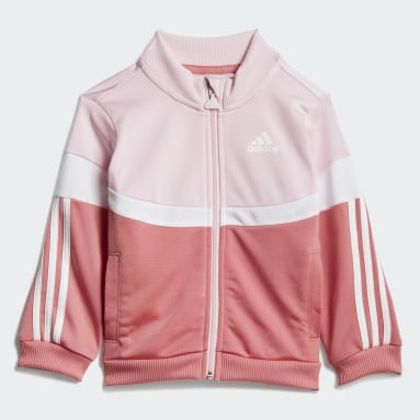 Agasalho Shiny Badge of Sport 3-Stripes Rosa Kids Training