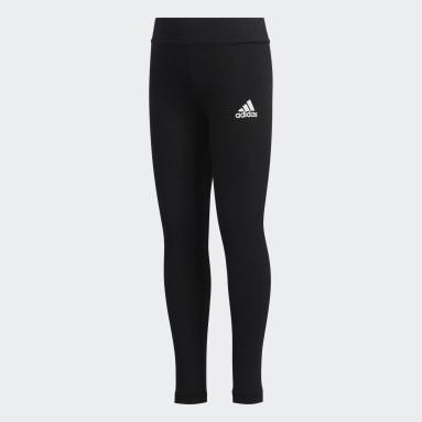 Kids 4-8 Years Sportswear Black Style Comfort Leggings