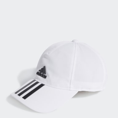 Field Hockey White AEROREADY 3-Stripes Baseball Cap