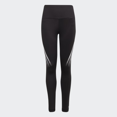 Girls Fitness Og Træning Sort Believe This AEROREADY 3-Stripes High-Rise Stretch Training tights