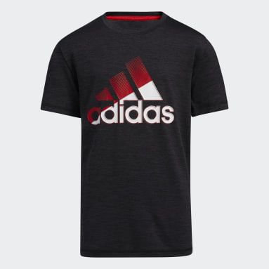 Youth Training Red Sliced Badge of Sport Mélange Tee