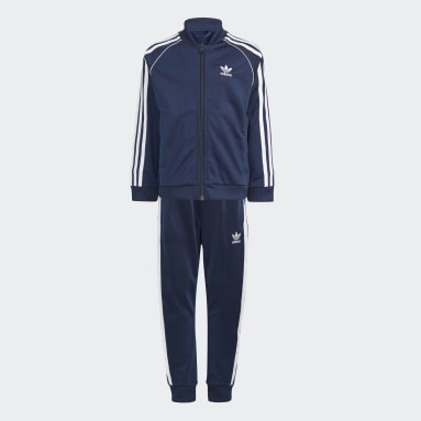 Kids 4-8 Years Originals Blue Adicolor SST Tracksuit