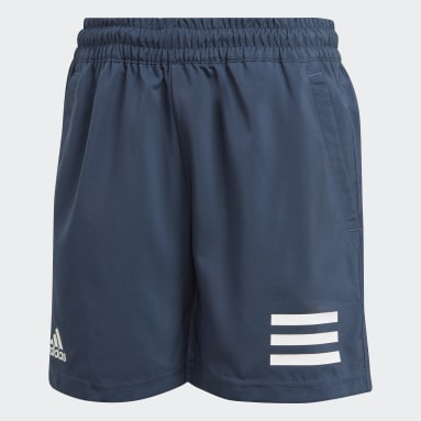 Youth 8-16 Years Tennis Blue Club Tennis 3-Stripes Shorts