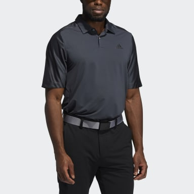 Men Golf Grey HEAT.RDY 3-Stripes Polo Shirt