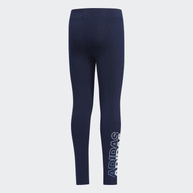 Girls Yoga Blue Leggings