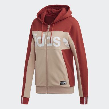 Women's Originals Beige Hooded Track Jacket