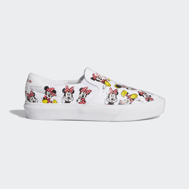 Youth Originals White Court Rallye Slip x Minnie Shoes