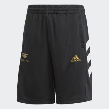 Pantalón corto Salah Football-Inspired Negro Niño Gimnasio Y Entrenamiento