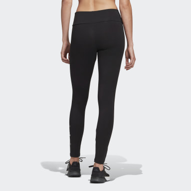 Women Sport Inspired Black adidas Essentials Stacked Logo High-Rise Leggings