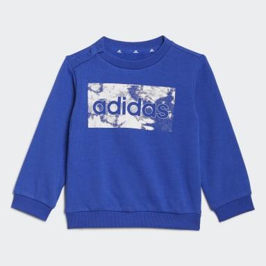Kinder Sportswear adidas Essentials Sweatshirt Set Blau