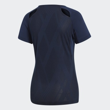 Women Squash Blue Quickset Jersey