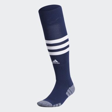Training Blue 3-Stripes Hoop Socks