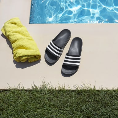 Plavání černá Pantofle Adilette Aqua