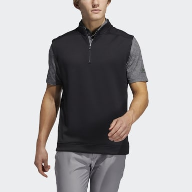 Herr Golf Svart Club Quarter-Zip Vest