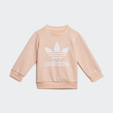 Ensemble Crew Sweatshirt Rose Enfants Originals